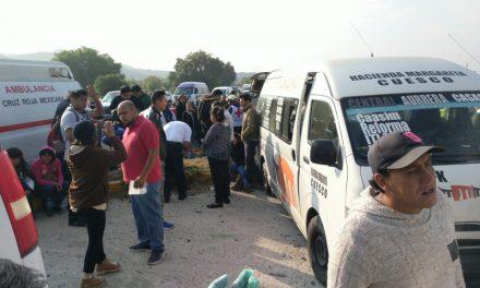 Accidente en la Pachuca-Ciudad Sahagún deja 17 lesionados