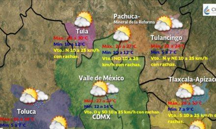 Este lunes hay probabilidad de lluvias aisladas en Hidalgo
