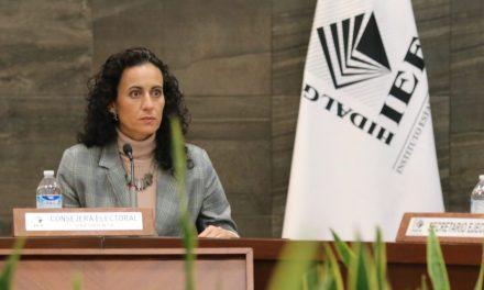 Consejera presidenta del IEEH a favor de los Organismos Públicos Locales Electorales