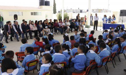 Inauguran obras en Jardín de Niños de Tizayuca