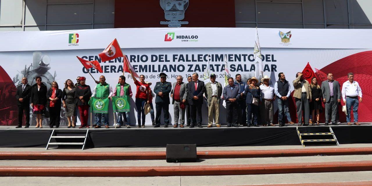 Conmemoran aniversario luctuoso 100 de Zapata