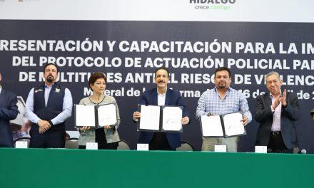 Alcaldías firman convenio con Gobierno estatal en pro de la seguridad
