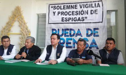 Preparan la Procesión de Espigas en Tlaxcoapan