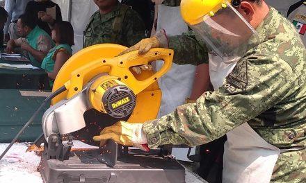 Instalan en Santiago Tulantepec módulo de canje de armas