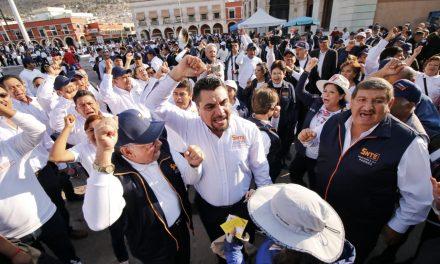 Marcha del SNTE molestó a algunos pachuqueños