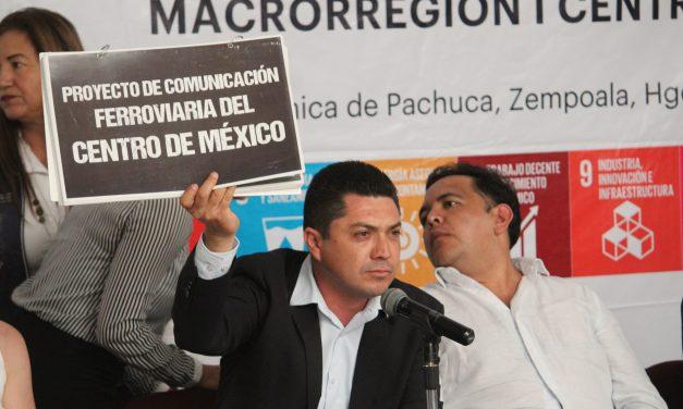 Alcalde de Zempoala presenta el proyecto Comunicación Ferroviaria