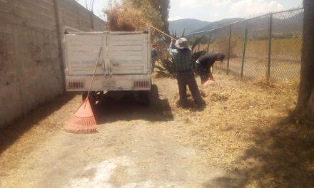 Tolcayuca recolecta más de 2 toneladas y media de basura en canaletas