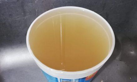 CAASIM informó que el agua turbia contenía arcilla y arena