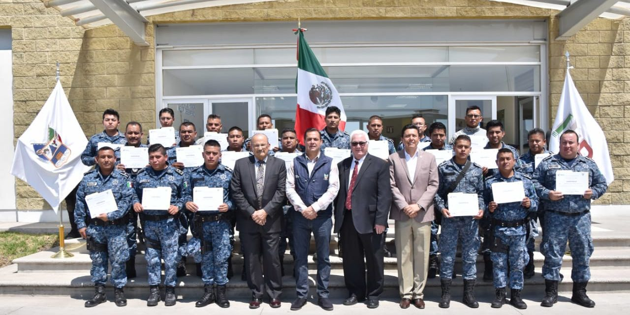 Capacita Embajada de Estados Unidos a policías estatales de Hidalgo