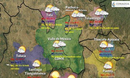 Continúa potencial de lluvias para este miércoles en Hidalgo