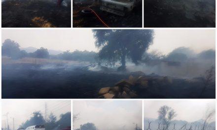 Sofocan incendio en Mineral de la Reforma