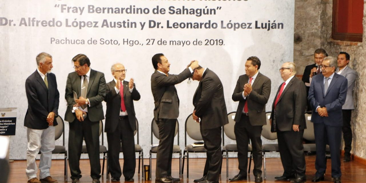 Omar Fayad Meneses entregó la Medalla al Mérito Histórico