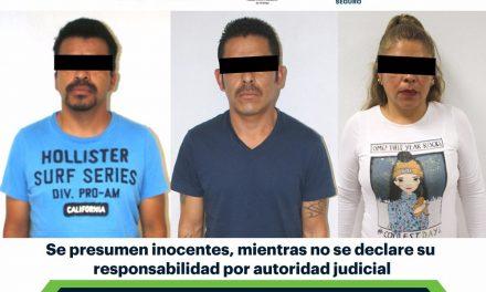 Aseguran a tres por presunto robo de vehículos