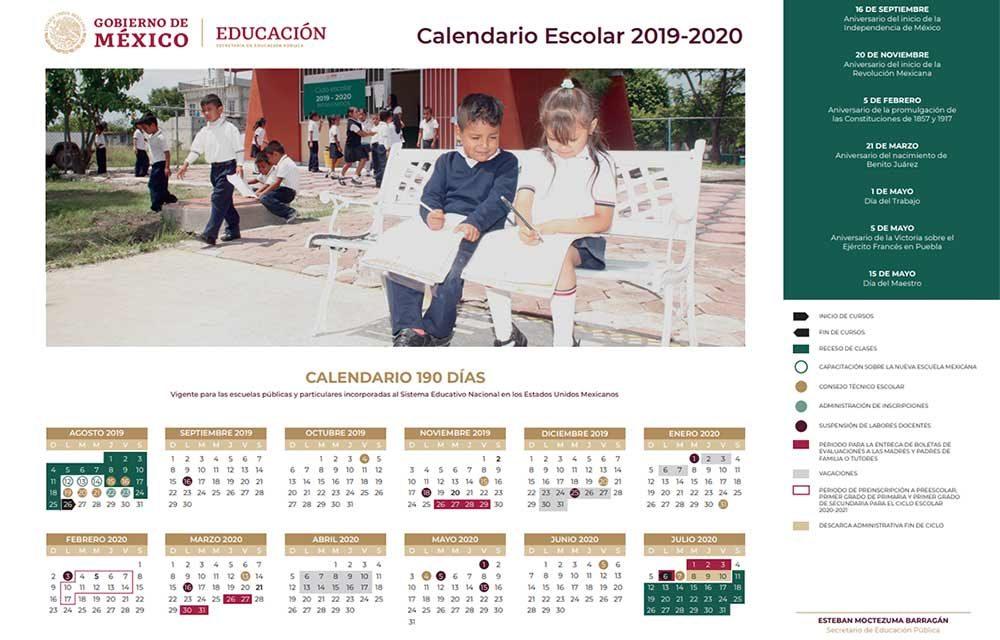 Presentan nuevo calendario escolar, reasignan días de CTE