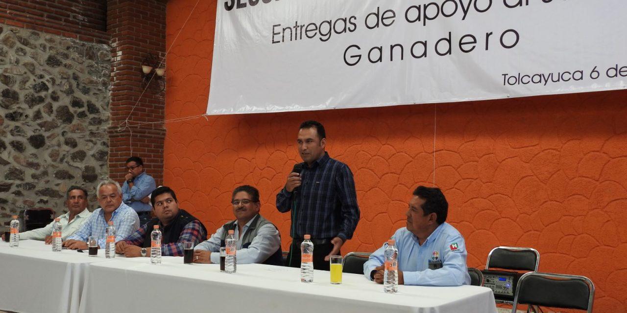 Productores de Tolcayuca reciben pago del Seguro Catastrófico Pecuario