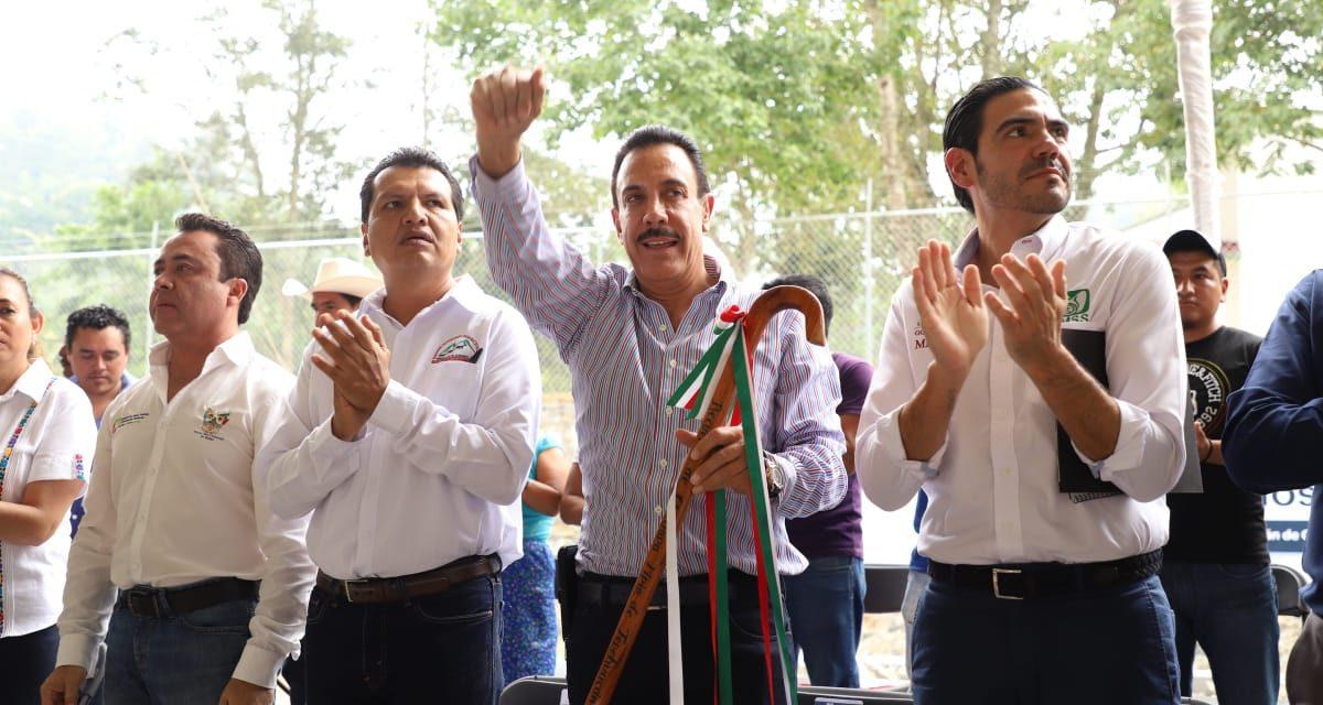 Anuncia Omar Fayad modernización del camino Chilijapa – Teyahuala