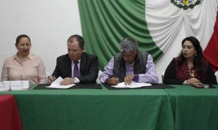 Signan convenio Ayuntamiento de Tizayuca y Conalep