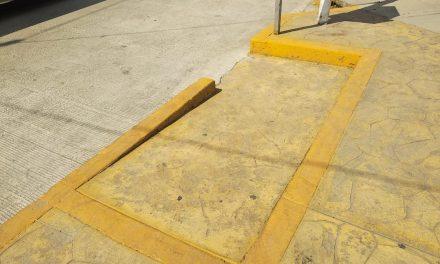 Construyen rampas para discapacitados en Santiago Tulantepec