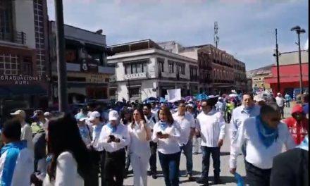 Marchan 2 mil 500 en rechazo al aborto