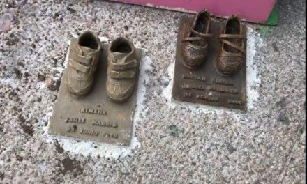 Roban zapatitos de bronce, recuerdo de bebés de la guardería ABC