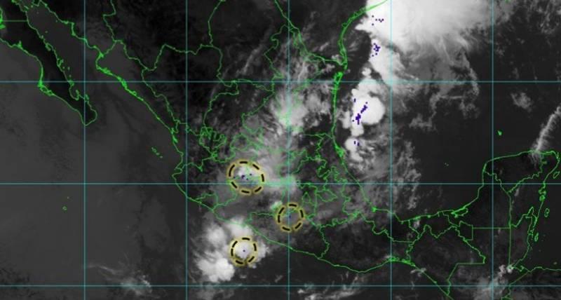 Continúa probabilidad de lluvias; puede haber tormentas fuertes