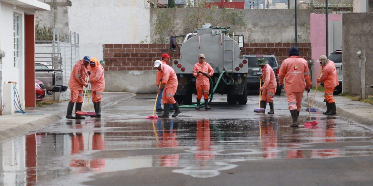 Sopot trabaja en colonias afectadas por las lluvias