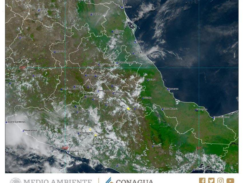 Lluvias continuarán en Hidalgo