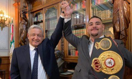 Amlo recibe al campeón de box Andy Ruiz