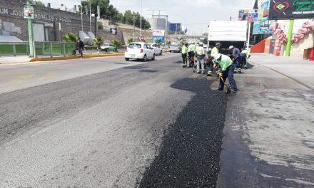 Bachea Secretaría de Obras Públicas estatal laterales del Felipe Ángeles