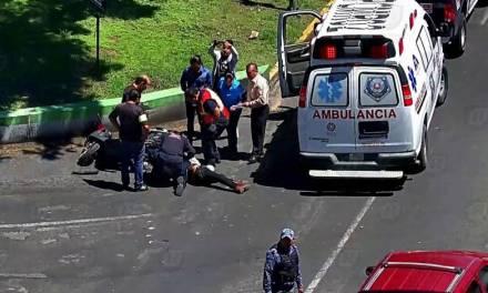 Accidente en la Pachuca-Tulancingo deja un motociclista lesionado