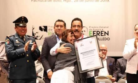 Entrega Omar Fayad Meneses  Premios Estatales de Cultura Hidalgo 2019