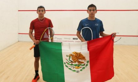 Hidalguenses hacen 1-2 en Panamericano de Squash en Canadá