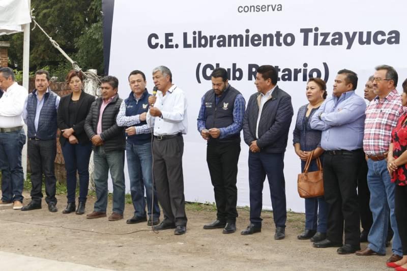 Arrancan nuevas obras conjuntas SOPOTH y Ayuntamiento de Tizayuca