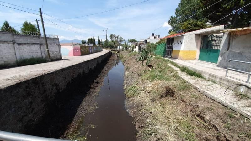 Piden concluyan trabajos de desazolve en Río Grande en Tulancingo