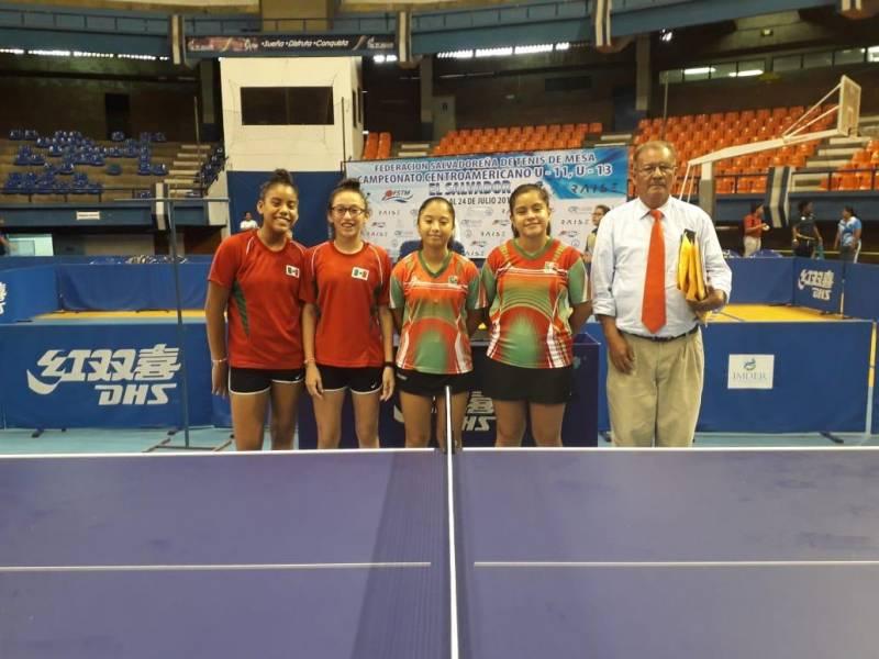 Ximena Figueroa con dos platas en centroamericanos de tenis de mesa
