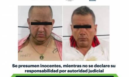 SSPH detiene en Huejutla a dos presuntos relacionados con grupo delincuencial regional