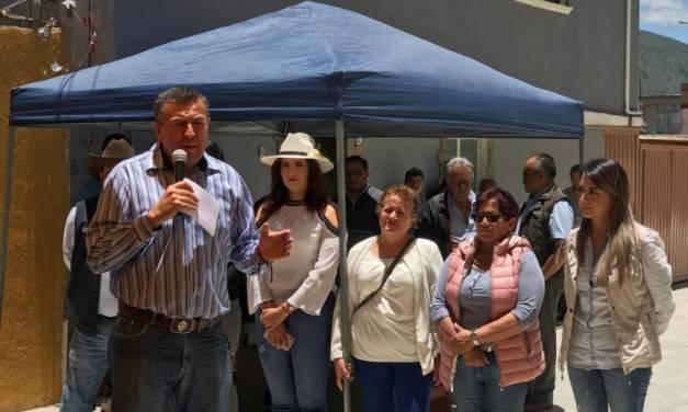 Alcalde de Tepeapulco inaugura la pavimentación de la Calle Belisario Domínguez