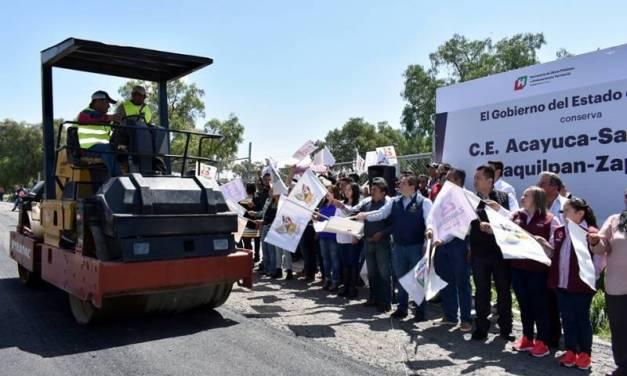 Arranca mantenimiento a la carretera intermunicipal de Zapotlán de Juárez