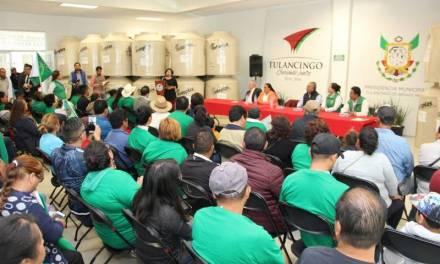 Alcalde de Tulancingo beneficia a agremiados de la UNTA