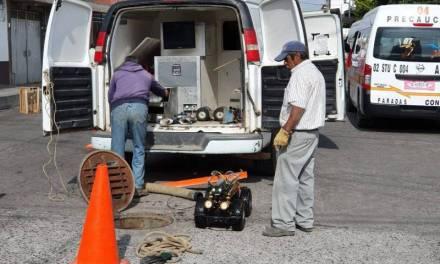 Inspeccionan mediante video, redes de agua potable y drenajes en Tulancingo