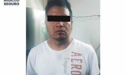 Asegura SSPH a hombre tras presunto asalto a taxista en Tizayuca