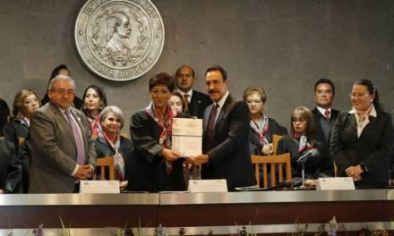 Encabeza Omar Fayad la celebración de 150 años de impartición  de justicia en la entidad