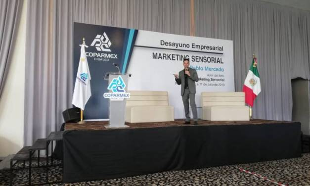 Especialista comparte con empresarios hidalguenses técnicas del «Marketing Sensorial»