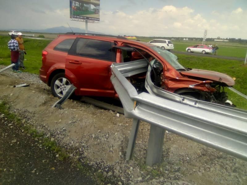 Accidente en la México-Pachuca deja dos lesionados