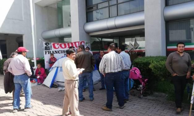 Organizaciones campesinas se manifiestan para pedir recursos al gobierno federal