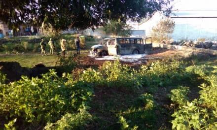 Camioneta presuntamente utilizada para robo de hidrocarburo, se incendió en Cuautepec
