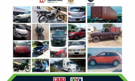Recupera Policía Estatal 17 vehículos con reporte de robo