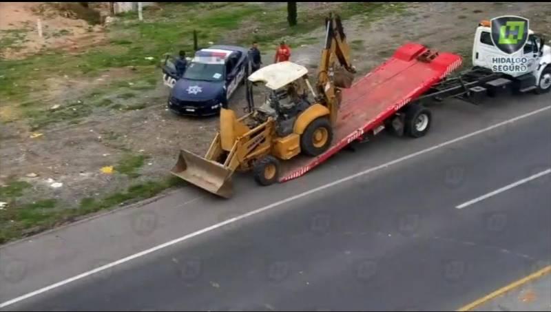 Recupera Policía Estatal maquinaria robada