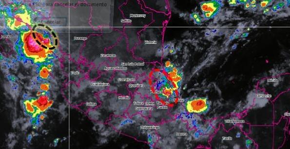 Continúan lluvias y vientos en Hidalgo