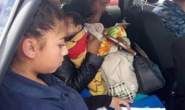 Rescatan a niños y adolescente en situación de riesgo, en Pachuca